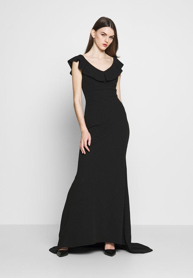 FRILL NECK DRESS - Robe de cocktail - black