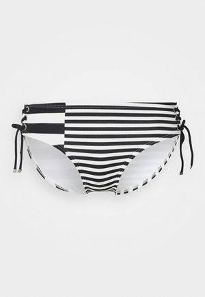 STRIPE GROUP BIKINI BOTTOM - Braguita de bikini - white
