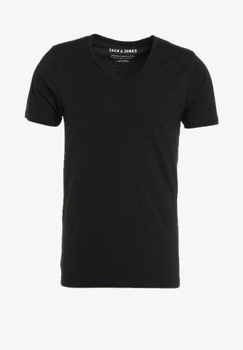 BASIC V-NECK  - Basic T-shirt - black