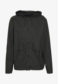 SHORT HOODED COAT UNISEX - Waterproof jacket - black