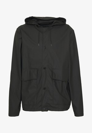 SHORT HOODED COAT UNISEX - Regnjakke / vandafvisende jakker - black