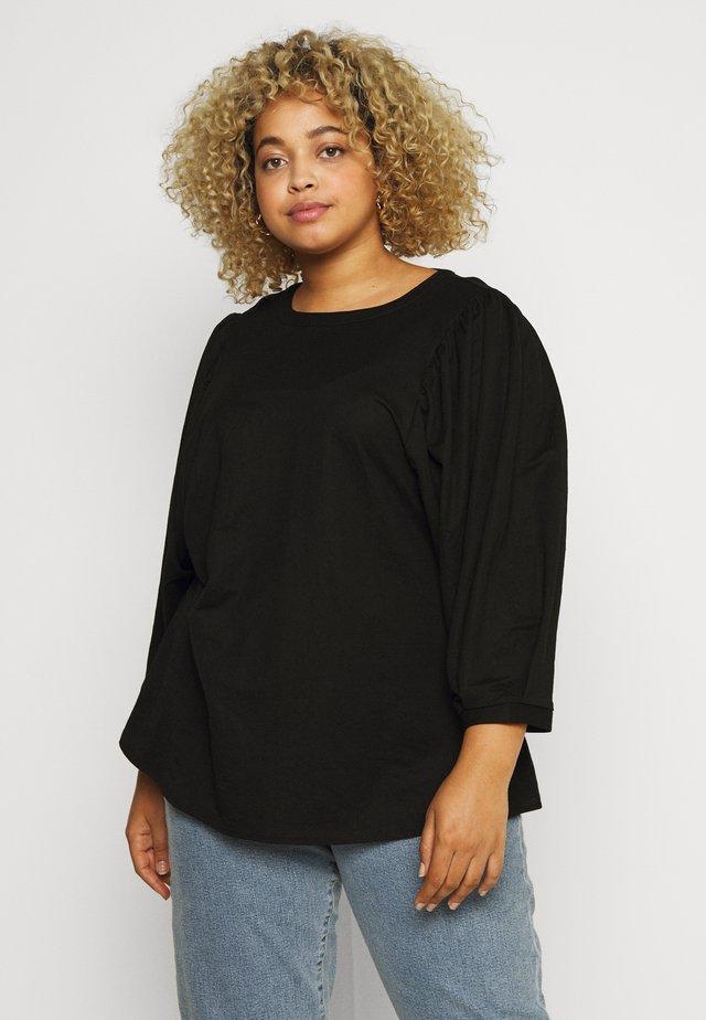 XAMANDA - T-shirt à manches longues - black