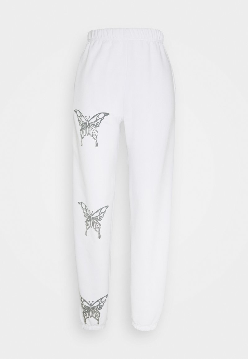 NEW girl ORDER - BUTTERFLY JOGGERS - Pantalones deportivos - white