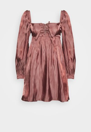 TIE FRONT BABY DOLL DRESS - Sukienka letnia - dark blush