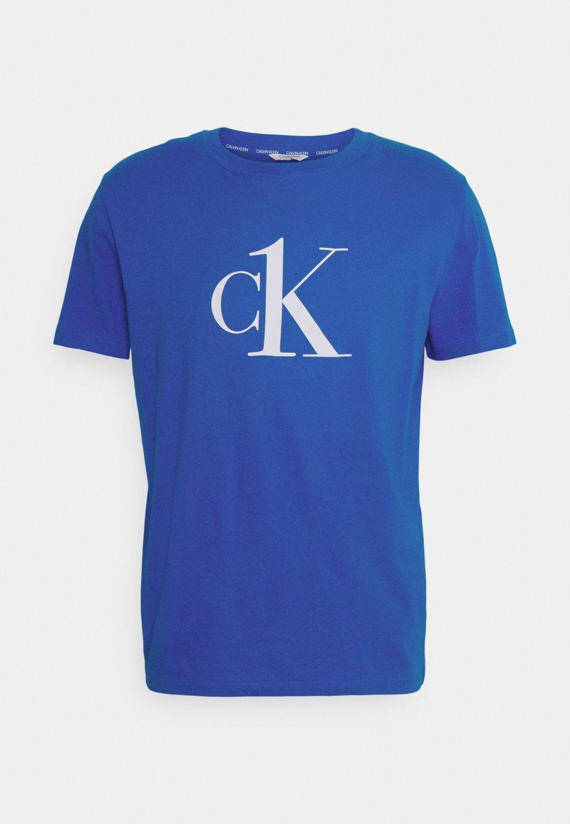Calvin Klein Swimwear - RELAXED CREW TEE - Pyjama top - blue