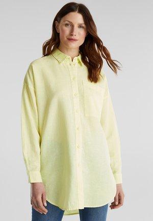 Button-down blouse - lime yellow