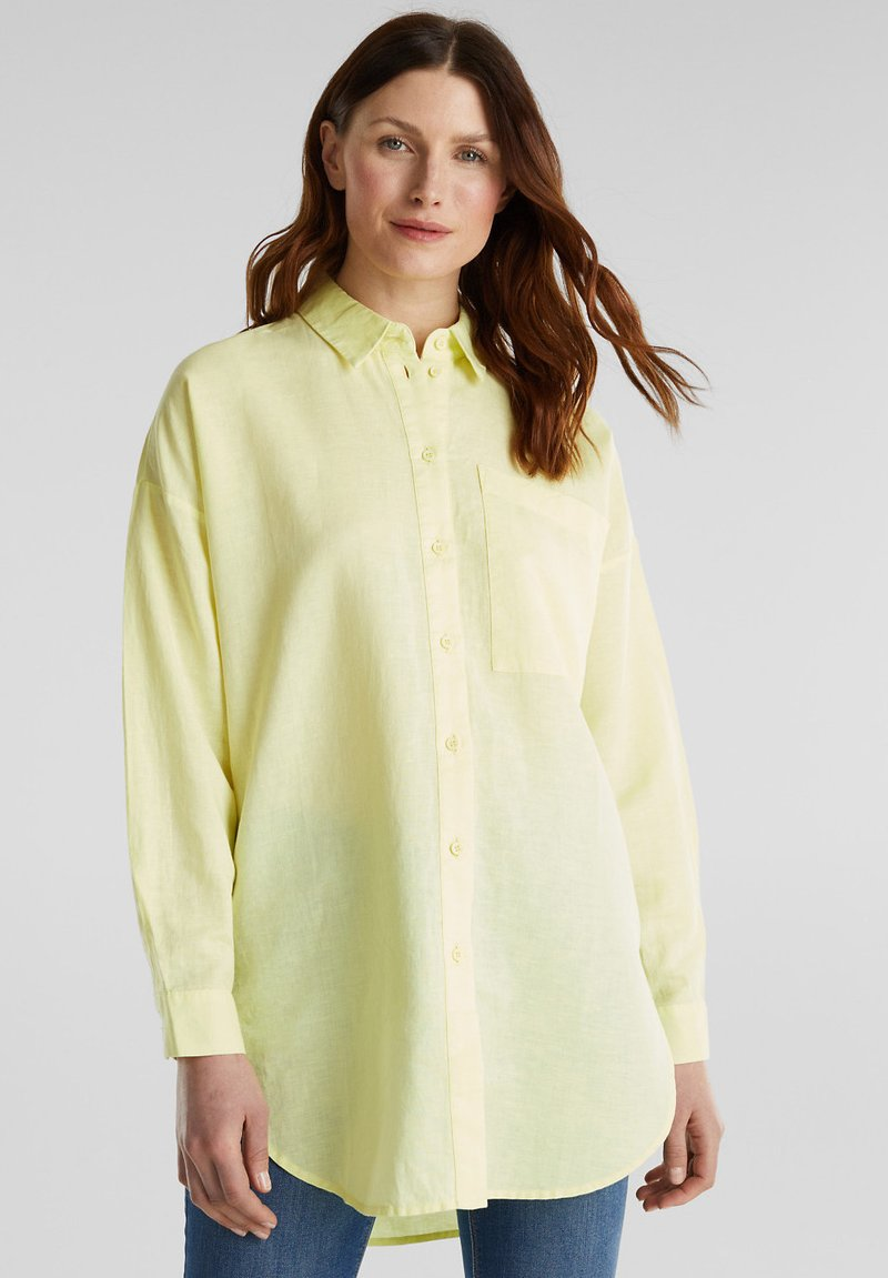Esprit - Button-down blouse - lime yellow