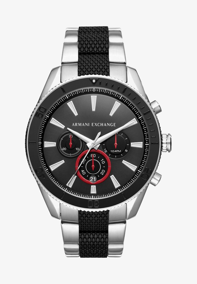 Chronograph watch - silver-coloured/schwarz
