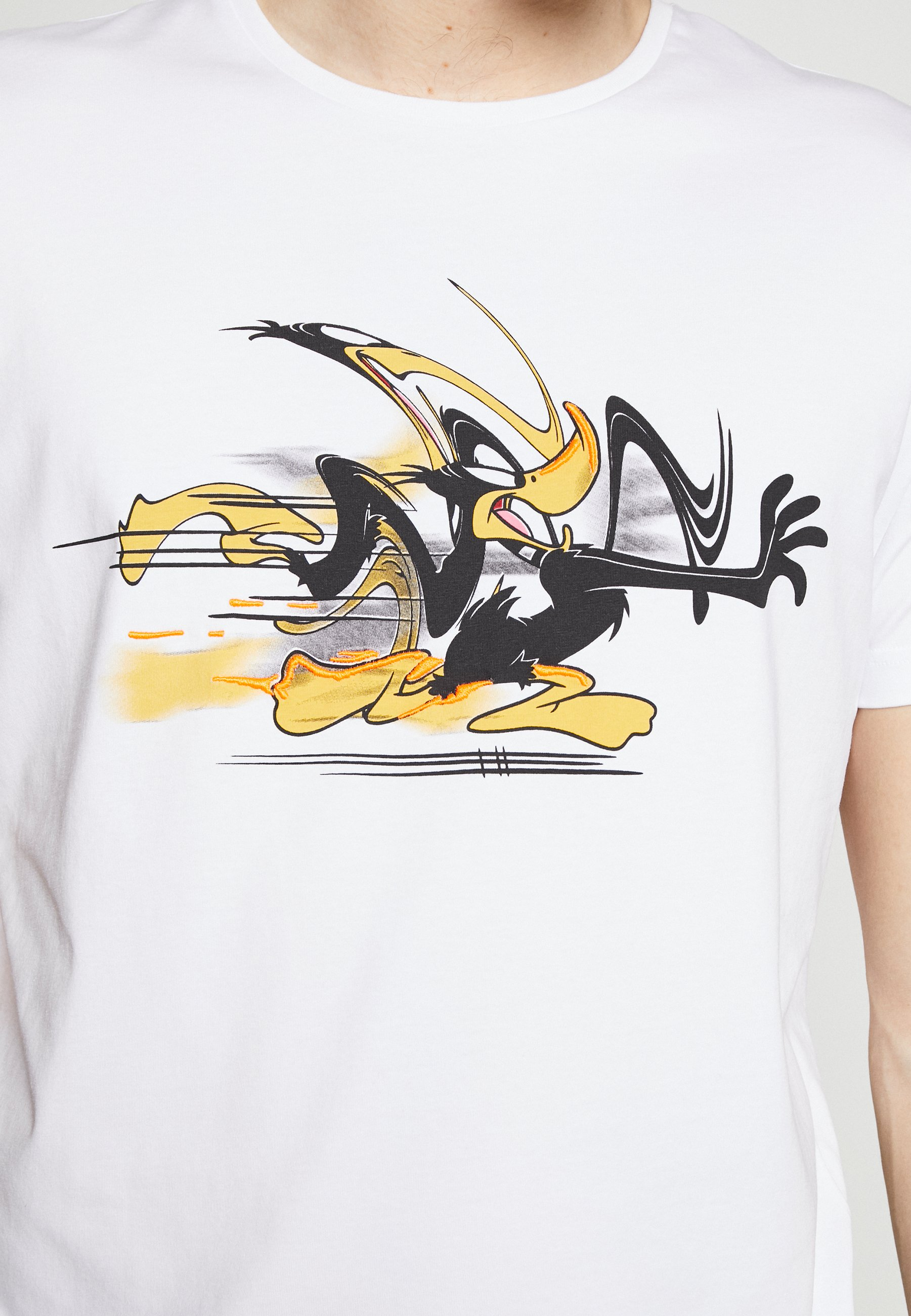 Iceberg DAFFY DUCK CARTOON - T-shirt imprimé - bianco ottico