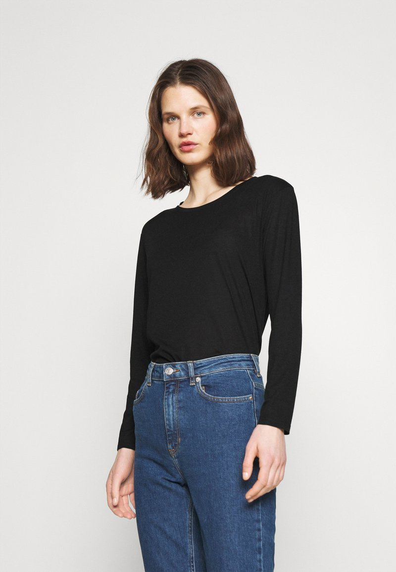 Marks & Spencer London - RELAXD CREW - Long sleeved top - black