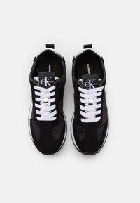 Calvin Klein Jeans - JILL - Trainers - black/silver - 5