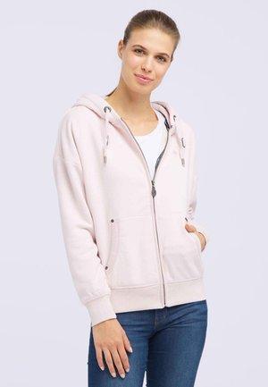 Zip-up hoodie - powder pink melange