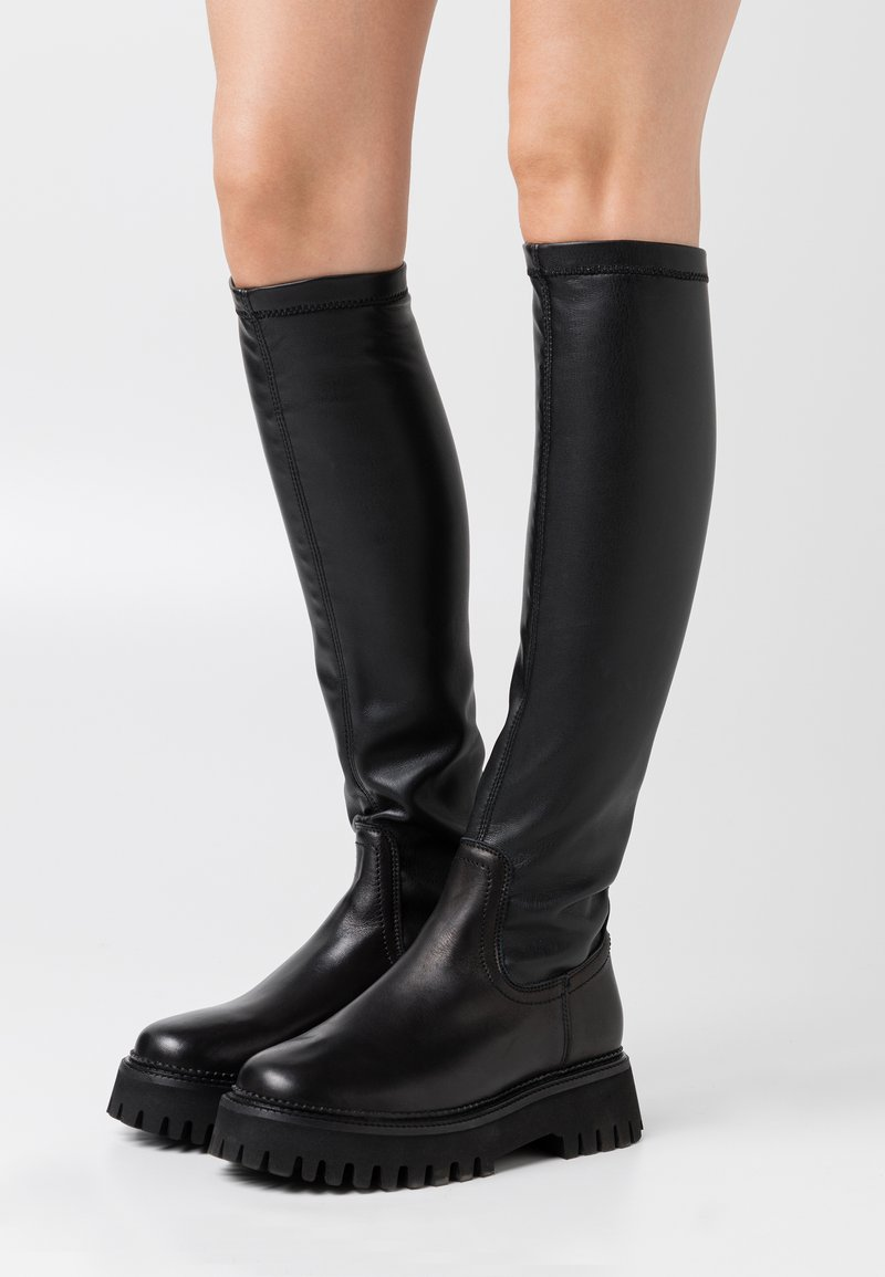 Bronx - GROOVY - Over-the-knee boots - black