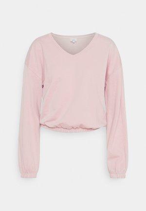 ONLBRIA LIFE VNECK - Sweatshirt - rose smoke