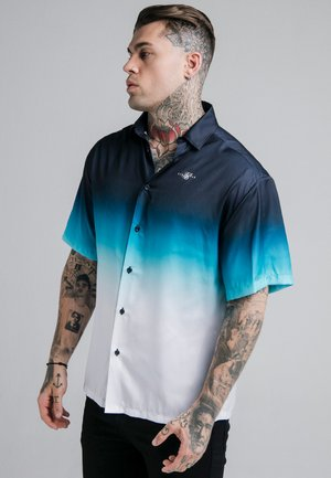HIGH FADE RESORT SHIRT - Shirt - navy/neon teal