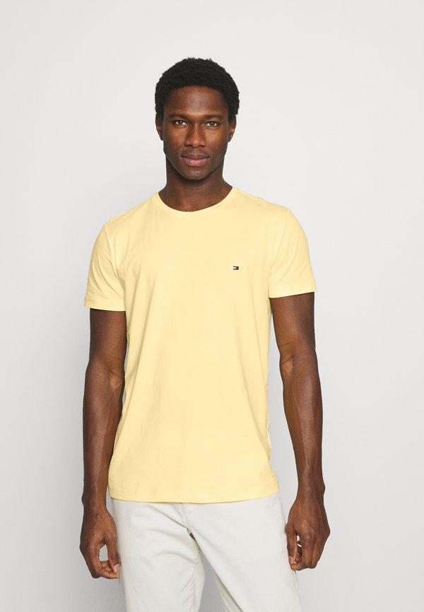 Tommy Hilfiger STRETCH TEE - T-shirt basic - delicate yellow/jasnożÓłty Odzież Męska FFBH