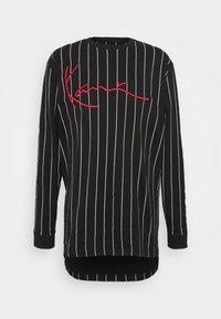 SIGNATURE PINSTRIPE  - Long sleeved top - black