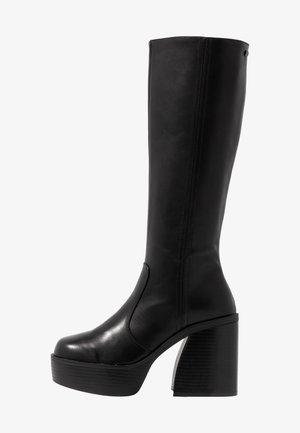 SETENTA - Kozačky na vysokém podpatku - black