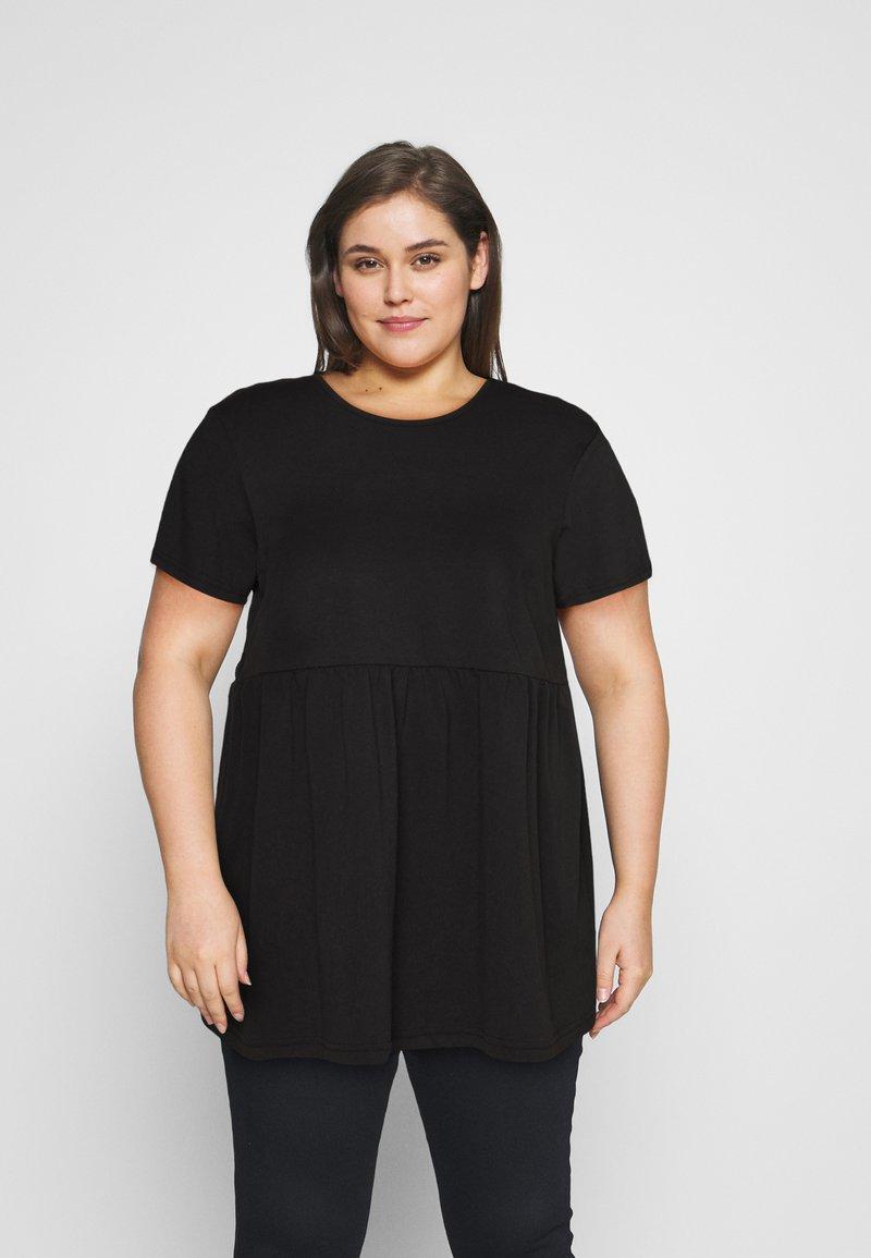 Missguided Plus - PLUS SMOCK - Print T-shirt - black