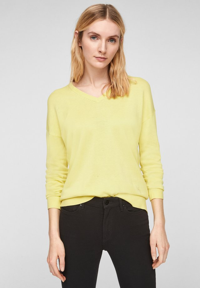 Pullover - lime yellow