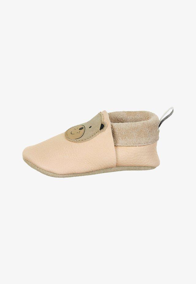LEDER-KRABBELSCHUH - First shoes - beige