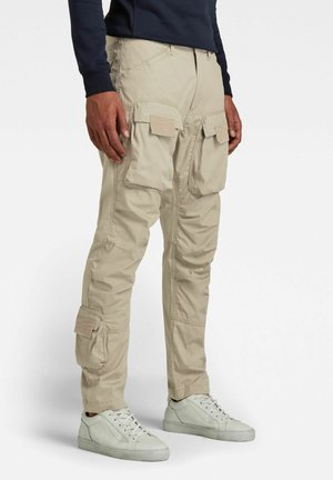 STRAIGHT TAPERED  - Cargo trousers - light toggee