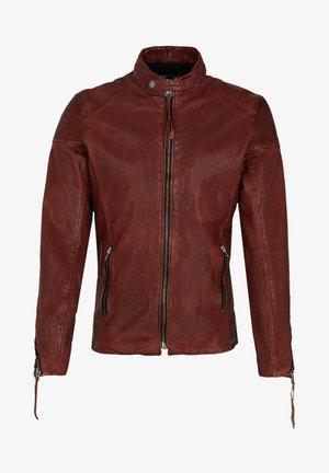 FRANKLYN - Leather jacket - dark red
