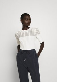 HUGO - SHOMANY - Print T-shirt - natural - 0
