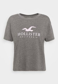 Hollister Co. - TIMELESS LOGO - T-shirts med print - grey - 4