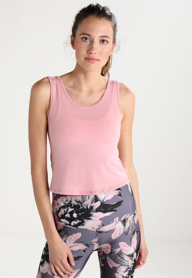 KNOT CROP - T-shirt de sport - blush