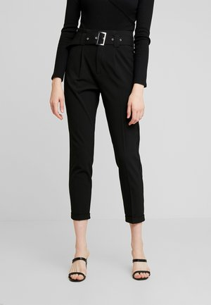 ONLROSIE BELT PANT - Trousers - black