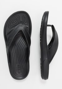 Crocs - CLASSIC FLIP  - Japonki kąpielowe - black - 1