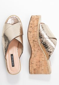 River Island - Heeled mules - gold - 3