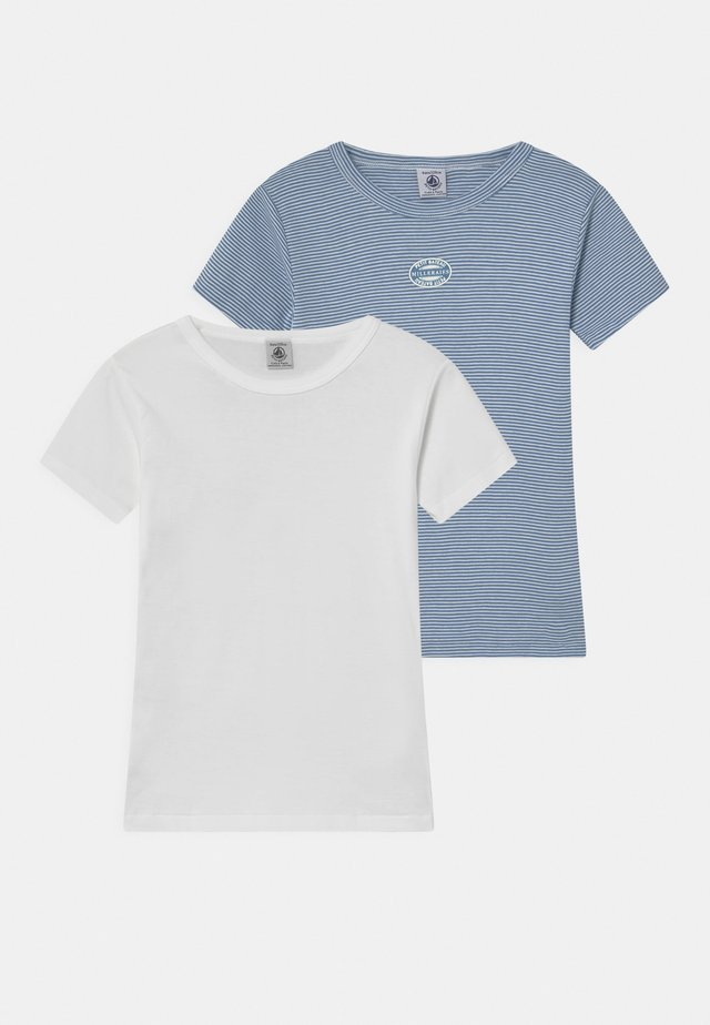 MILLERAIS 2 PACK - Print T-shirt - white/blue