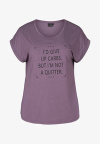 Zizzi - T-shirt print - purple - 3