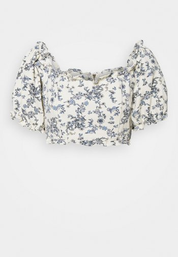 FLORAL SQUARE PUFF SLEEVE