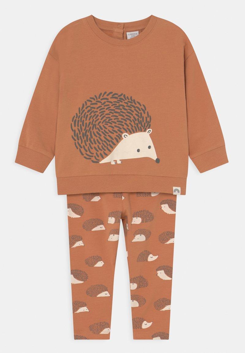 Lindex - HEDGEHOG SET UNISEX - Sweatshirt - light brown