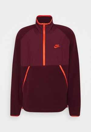 WINTER - Fleece jumper - dark beetroot/electro orange