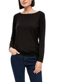 s.Oliver - Long sleeved top - black - 3