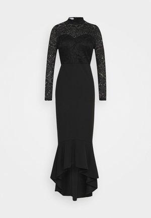 LONG SLEEVE MIDI DRESS - Vestito elegante - black