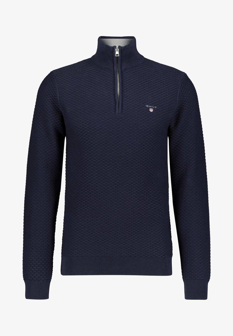 GANT - Stickad tröja - marine (52)