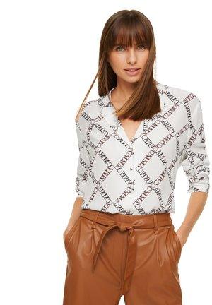 MIT ALLOVER-PRINT - Button-down blouse - white logo