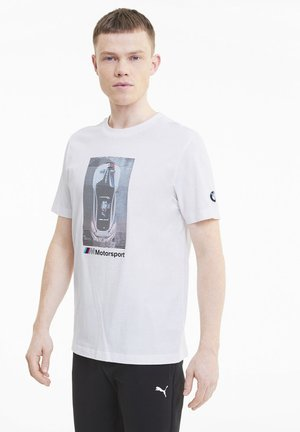BMW GRAPHIC TEE - Print T-shirt -  white