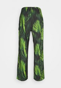 9N1M SENSE - SPECIAL PIECES PANTS UNISEX - Trousers - black/green leaf - 1