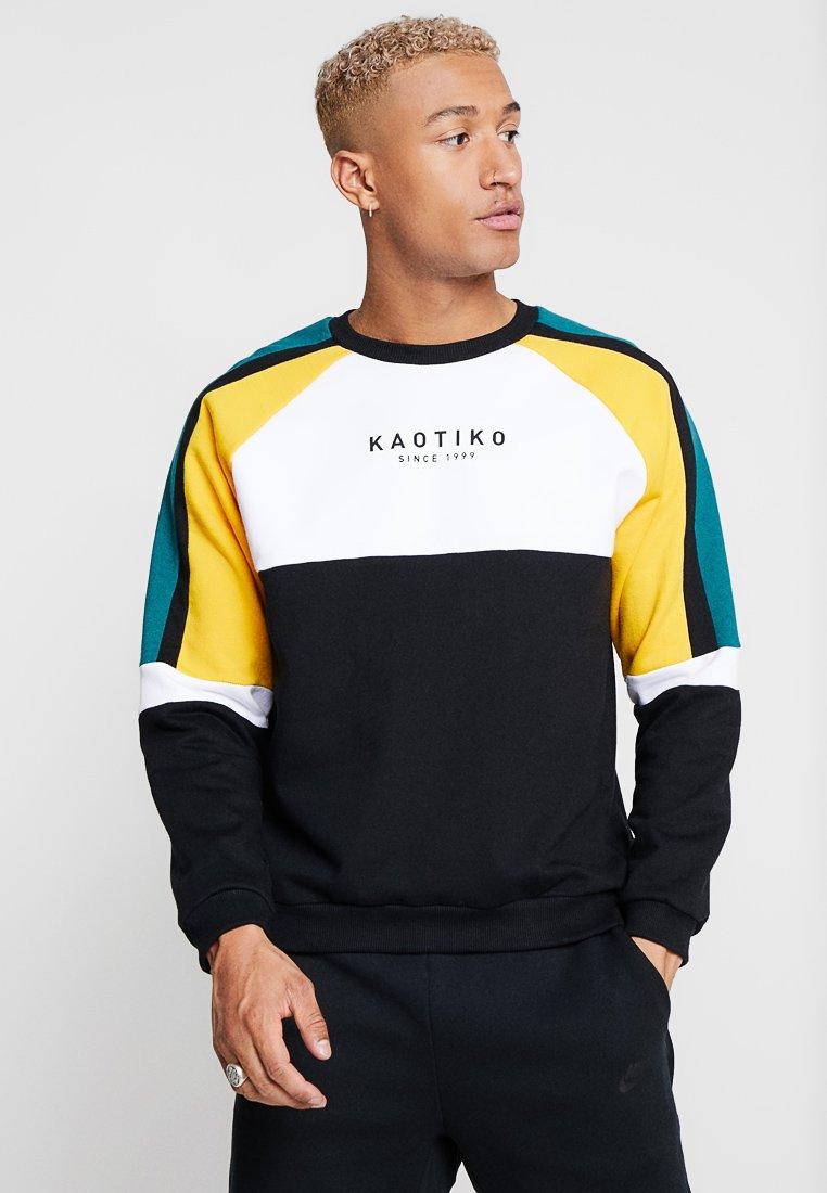 Hyper Online Drop Shipping Men's Clothing Kaotiko Sweatshirt black/white/yellow RJrLRRvhY ngN9AK3Vx