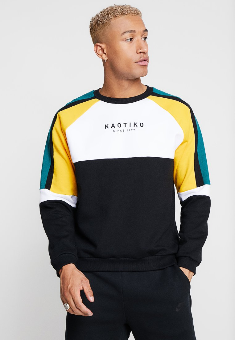 Kaotiko - Sweatshirt - black/white/yellow