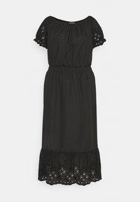 ONLY Carmakoma - CARLUCIA OFFSHOULDER CALF DRESS PLUS - Korte jurk - black - 6