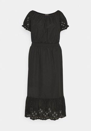 CARLUCIA OFFSHOULDER CALF DRESS PLUS - Day dress - black