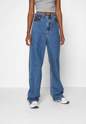 HIGH LOOSE - Jeans a zampa - blue denim