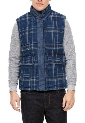 Waistcoat - blue check
